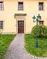 Brockwitz Dresdner Straße 183 Wohnstallhaus , Torpfeiler und Hofmauer eines ehemaligen Dreiseithofes VI.jpg
