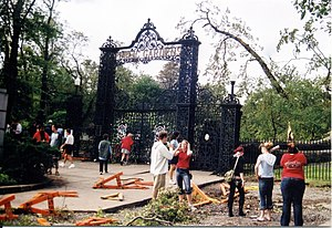 Halifax Public Gardens - Park Entrance after Hurricane Juan, September 29, 2003