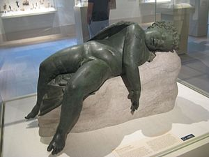Verres - Hellenistic bronze of Sleeping Eros, the type of work that Verres extorted from Sicilian collectors