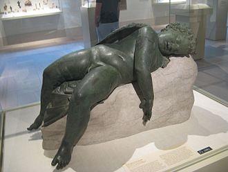 Verres - Hellenistic bronze of Sleeping Eros, the type of work that Verres extorted from Sicilian collectors