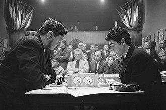 Tata Steel Chess Tournament - Jan Hein Donner vs. Bruno Parma, Hoogovens 1963