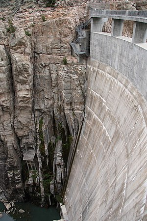 Shoshone River - Buffalo Bill Dam on the Shoshone River