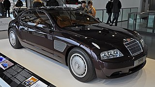Bugatti EB 118 Concept car jointly developed by French automobile manufacturer Bugatti and Italian styling house Italdesign