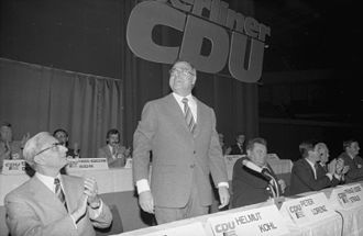 Helmut Kohl - Kohl in Berlin at a campaign event for the 1976 West German federal election