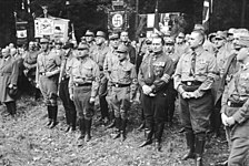 Nazis alongside members of German National People's Party (DNVP) in 1931 during the Nazi-DNVP alliance in the Harzburg Front
