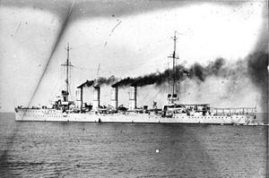 SMS Breslau - Breslau at sea, c. 1912–1914