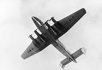 Junkers Ju 290 - Underside of the Ju 290 V1, the first prototype