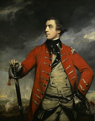 "Battles of Saratoga - General John Burgoyne was referred to by some as ""Gentleman Johnny"" for his manners (portrait by Sir Joshua Reynolds, c. 1760)"