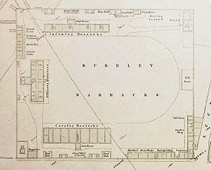 Burnley Barracks - A plan of the barracks in 1851