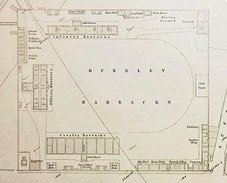 Burnley Barracks - A plan of the barracks in 1851