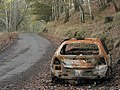 Burnt-out car - geograph.org.uk - 78573.jpg