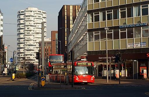 Buses in George Street, Croydon - geograph.org.uk - 2835011