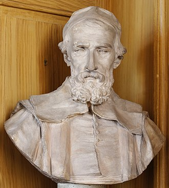 Nicolas-Claude Fabri de Peiresc - Terracotta bust of Peiresc by Jean-Jacques Caffieri in the Bibliothèque Mazarine