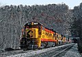 C&O Trains Coming Out of and Going Into Fort Springs Tunnel -- 5 Photos (31964983042).jpg
