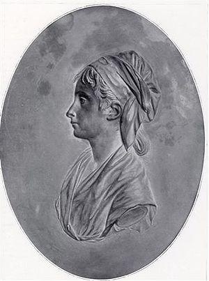 Cécile Renault - Cécile Renault at the revolutionary tribunal, medallion after a design by Pajou fils.