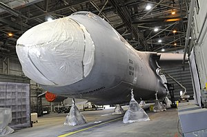Lockheed C-5 Galaxy - A Galaxy undergoing the AMP and RERP upgrades, to become a C-5M.