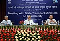 """C.P. Joshi at the """" State Transport Ministers meeting on Road Safety"""", in New Delhi. The Secretary, Ministry of Road Transport & Highways, Shri A.K. Upadhyaya and the DG (RD) & SS, Shri C. Kandasamy are also seen.jpg"""