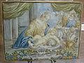 C.sf., castelli, francesco grue, mattonella con sacra famiglia e san giovannino, 1740-1755.JPG