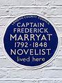 CAPTAIN FREDERICK MARRYAT 1792-1848 NOVELIST lived here.jpg