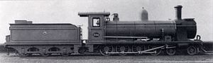 South African type ZA tender - Image: CGR 7th Class no. 336