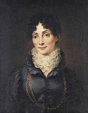 Duchess Charlotte Georgine of Mecklenburg-Strelitz - Duchess Charlotte of Saxe-Hildburghausen, painting by Heinrich Vogel, c. 1815