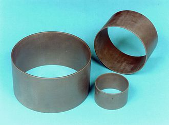 Ceramic matrix composite - CMC shaft sleeves with outer diameters between 100 and 300 mm for ceramic slide bearings of pumps.