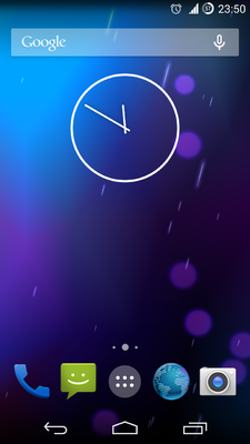 CM 11 Homescreen on Trebuchet Launcher.png