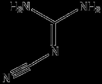 2-Cyanoguanidine - Image: C Nguanidine