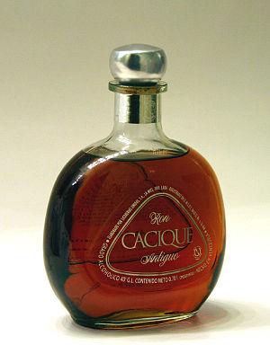 Cacique (rum) - A bottle of Cacique rum.