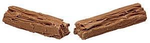 Flake (chocolate bar) - A Flake split in half.