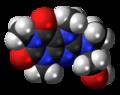 Cafaminol 3D spacefill.png