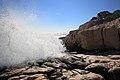 Calanques -- Calanque de Port Pin - écume des vagues.jpg