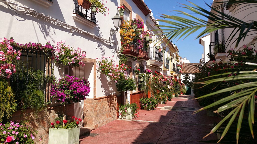 Calle aurora looking east - Estepona Garden of the Costa del Sol.jpg
