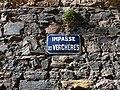 Caluire-et-Cuire - Impasse des Verchères, plaque.jpg