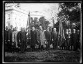 Calvin Coolidge and group outside White House, Washington, D.C. LCCN2016892827.tif