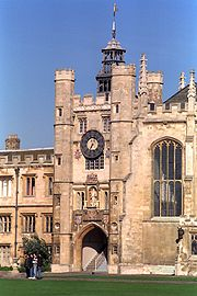 King's Gate with clock tower in Great Court