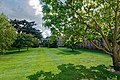 Cambridge - Regent Street - Downing College, founded in 1800 - View SSE into the back garden of the East Range.jpg