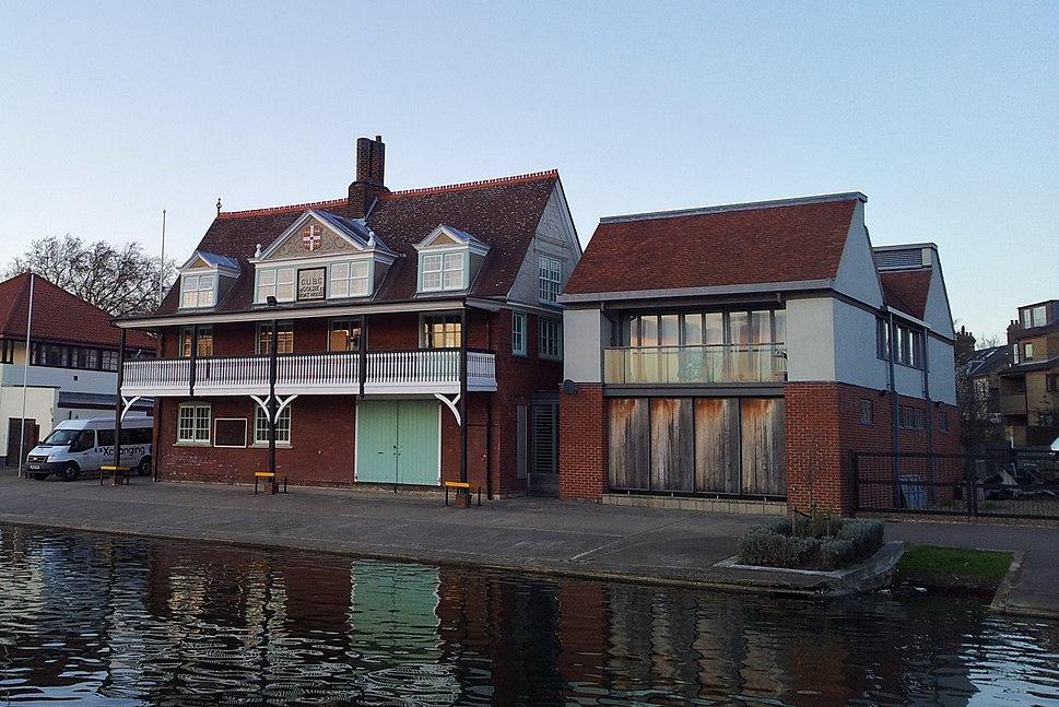 Cambridge boathouses - Goldie