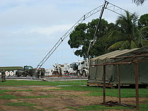 Corps of Engineers (Ireland) - Engineers constructing Camp Clara in Liberia