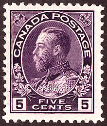 A George V 5 Cent Stamp Of 1922
