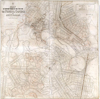 Walter Burley Griffin - Griffin's contour survey for Canberra