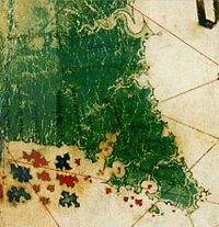 A Depiction Of What Might Be Florida From The 1502 Cantino Map