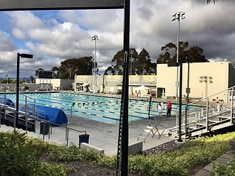 Canyonview Aquatic Center - The west pool and recreation facility