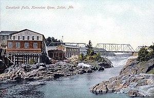 Solon, Maine - Caratunk Falls in 1909