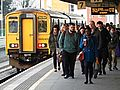 Cardiff Central commuters (16105179934).jpg