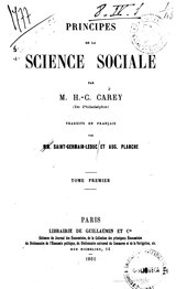 Carey - Principes de la science sociale, Tome 1.djvu