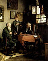 Carl Maria Seyppel (auch Karl Maria Seyppel, 1847 - 1913) , gemalt 1888, Titel - Playing Chess (Schachspieler).jpg