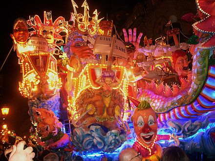A carnival float in Acireale Carnival at Acireale.JPG