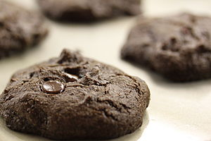 Ceratonia siliqua - Chocolate chip cookies with carob powder instead of cocoa powder