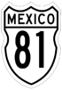 Federal Highway 81 shield